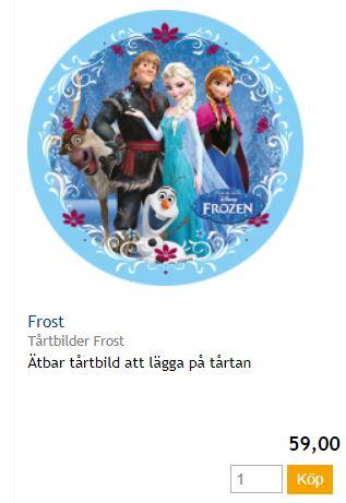 Bildtårta frost