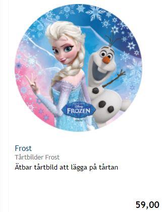 Tårtbild med frost