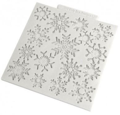 silikonformar snöflingor
