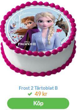 tårtbild med elsa från frost 2