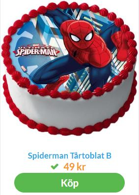 spiderman tårta 1
