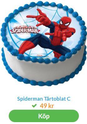 spiderman tårta 2