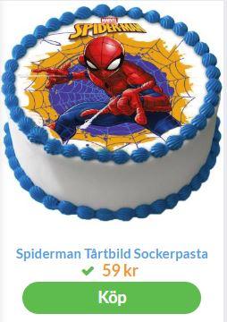 spindelmannen bildtårta 2
