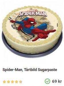 tårtbild spindelmannen