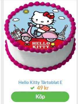 bildtårta med hello kitty 2