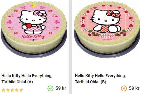 Köp hello kitty tårtbild