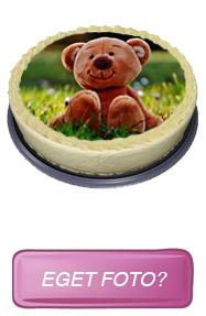 Eget foto på tårtan