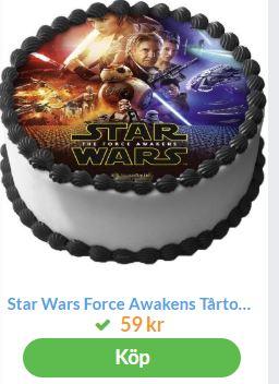 bildtårta med starwars