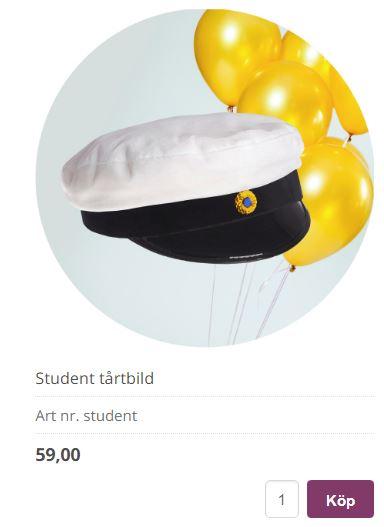 Bildtårta till studenten
