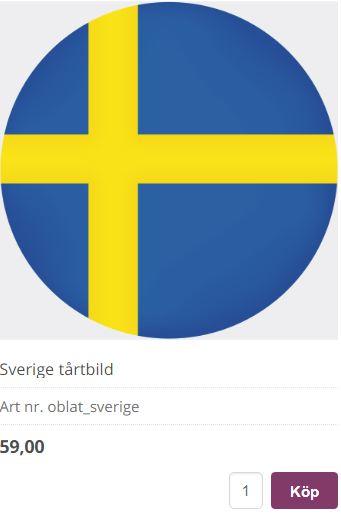 flagga sverige tårta