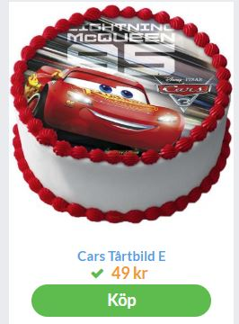 ätbar tårtbild cars
