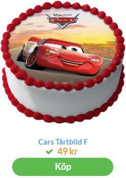 bilar tårtbild 1