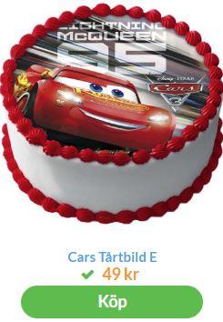 bilar tårtbild 2