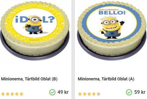 Köp minnions tårtbilder