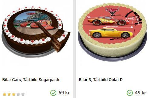 Tårtbilder med bilar