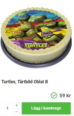 ninja turtles tårta