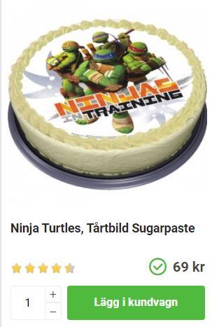 ninja turtles tårtbild