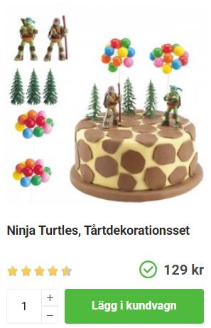 ninja turtles tårtdekoration