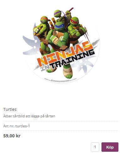 tårtbild turtle ninja 1