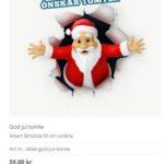 beställ god jul tårtbild