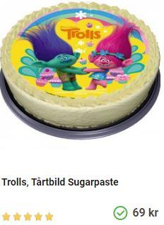 Trolls tårtbild 1