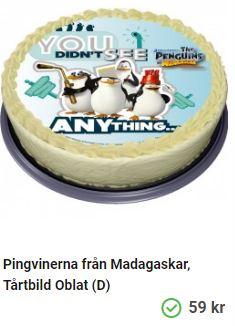 madagaskar tårtbild pingviner