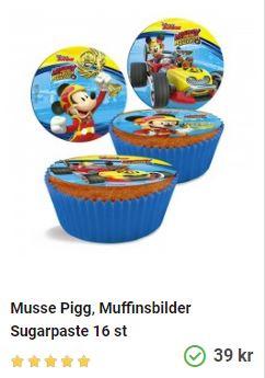 mussepigg på muffins oblater
