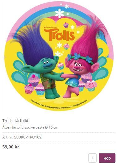trolls bildtårta 2
