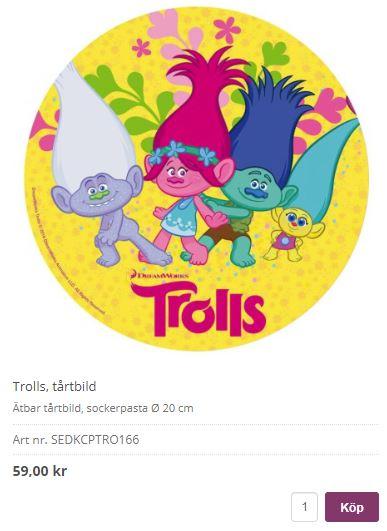 trolls tårta 1