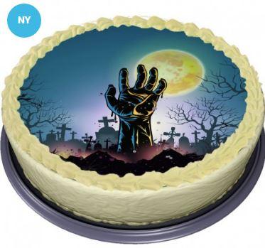Tårtbild med grav