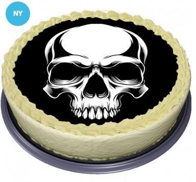 tårtbild med dödskalle