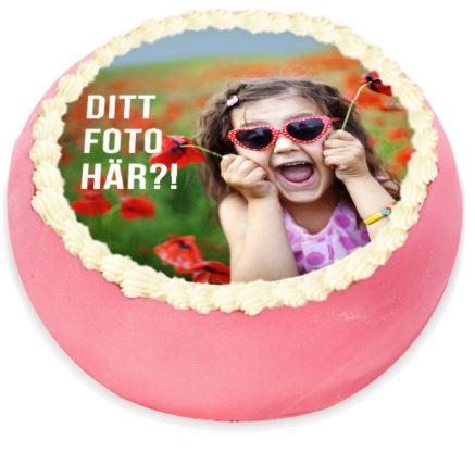 ditt foto här på tårta