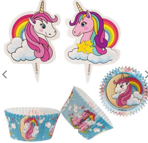 unicorn muffins