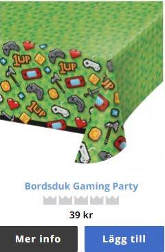 bordsduk gamer