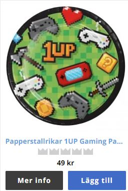papperstallrikar gamer