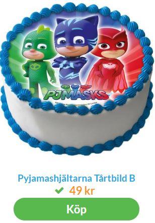 pyjamashjältarna tårta