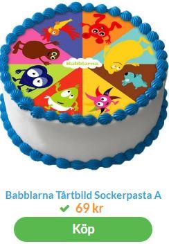 babblarna tårta med tryck