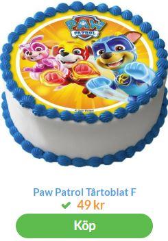 paw patrol tårta 2