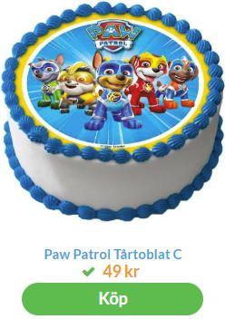 paw patrol tårtbild 1