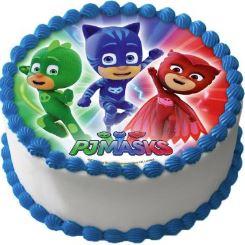 Pyjamashjältarna på tårta