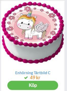 tårtbilder med unicornmotiv
