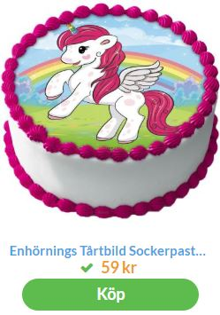 unicorn bildtårta 2