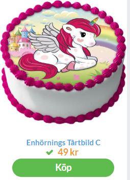 unicorn tårtbild 1
