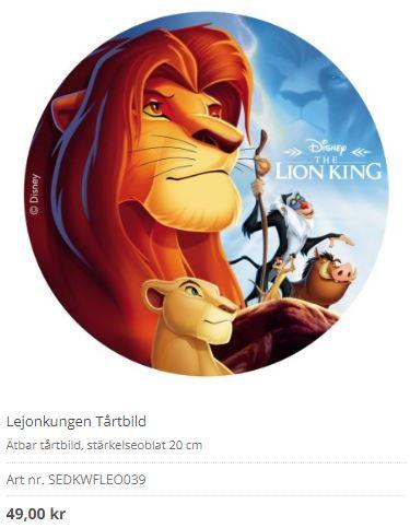 lejonkungen på bildtårta