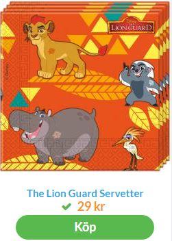 lejonkungen servetter