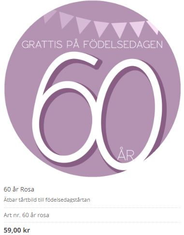 60 år tårtibld