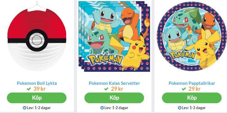 pokemon party saker