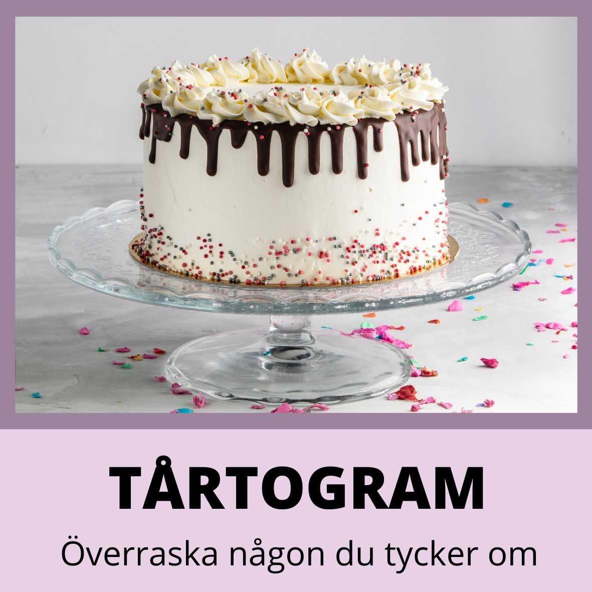 skicka ett tårtogram